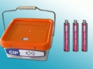 PLASTIC BUCKET WITH HANDLE 3,000 NAILS + 3 FULE CELLS